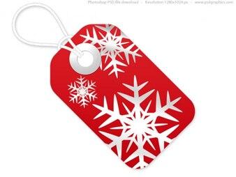 Rote und weiße Weihnachten Tags, PSD-Vorlage