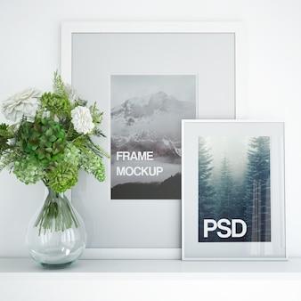 Schönes sauberes Foto-Rahmen-Modell