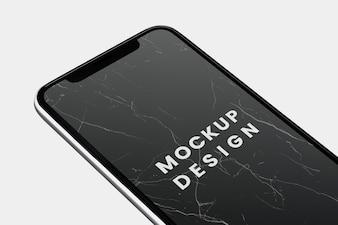 Schwarzer Bildschirm Smartphone-Modelldesign