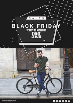 Schwarzer Freitag-Abdeckungsmodell mit Bild