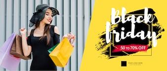 Schwarzer Freitag-Fahnenmodell mit Bild