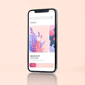 Smartphone-Modelldesign im Vollbildmodus