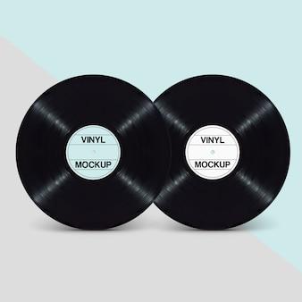 Stilvolles, sauberes Doppel-EP-LP-Schallplatten-Design-Modell