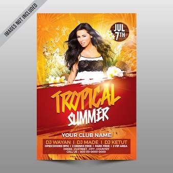 Tropische Sommervorlage