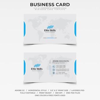 Unternehmens- und moderne Visitenkarte