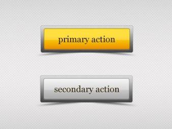 Web-Buttons mit Glas-Effekt