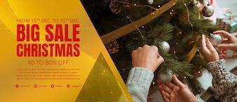 Weihnachten Banner Vorlage
