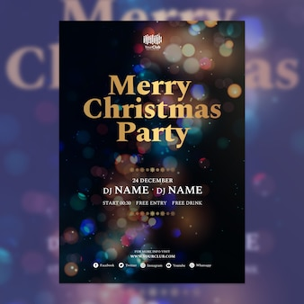 Weihnachts-Cover-Vorlage