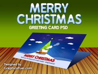 Weihnachtsgruß-Karte psd