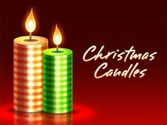 Weihnachtskerzen PSD herunterladen