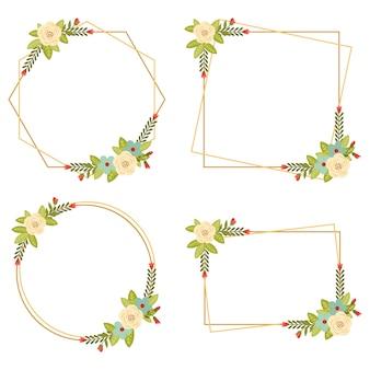 010-vintage wedding collections cadres floraux géométriques