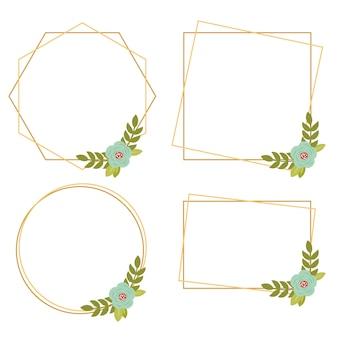 015-vintage wedding collections cadres floraux géométriques