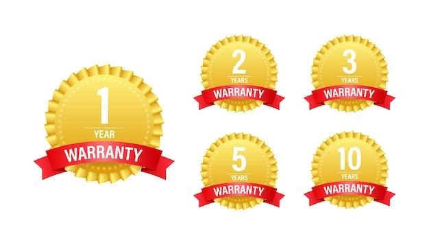 1, 2, 3, 5, 10 ans de garantie. icône de service d'assistance stock illustration vectorielle