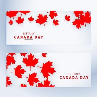 1 juillet canada bannières jour
