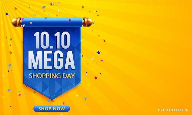 10.10 bannière de vente de jour de magasinage en ligne