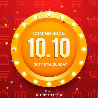 10.10 Conception D'affiches Ou De Flyers Pour Une Journée De Magasinage Vecteur Premium