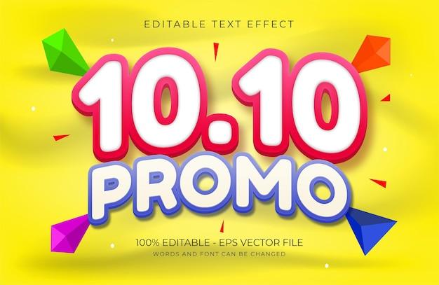 10 10 modèle d'effet de texte modifiable à prix réduit vecteur premium