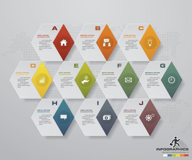 10 éléments graphiques modernes infographie graphique.