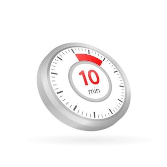 Les 10 minutes, icône de vecteur de chronomètre