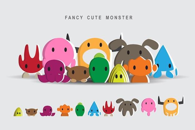 10 monstres mignons de fantaisie
