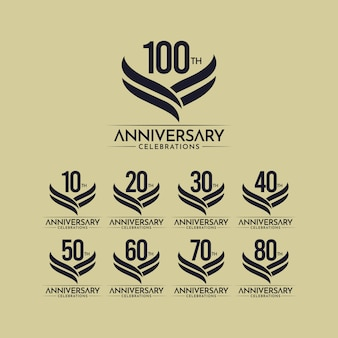 100 ans anniversaire célébration illustration de conception de modèle de vecteur couleur