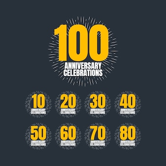 100 ans anniversaire célébrations vector illustration de conception de modèle