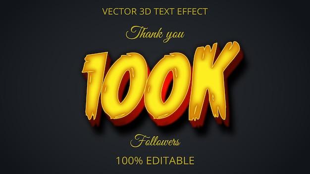100 effet de texte 3d design créatif