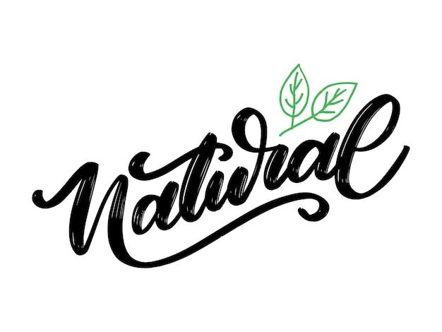100 lettrage naturel