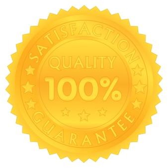 100 pour cent garantissent la qualité de satisfaction
