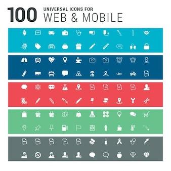 100 universelle ensemble d'icônes