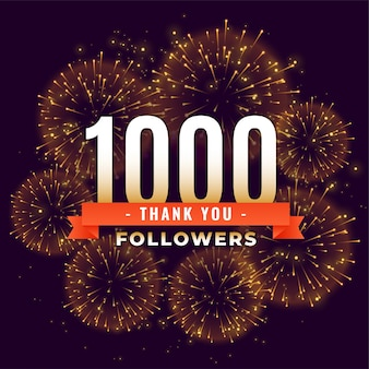 1000 fidèles merci modèle de feu d'artifice