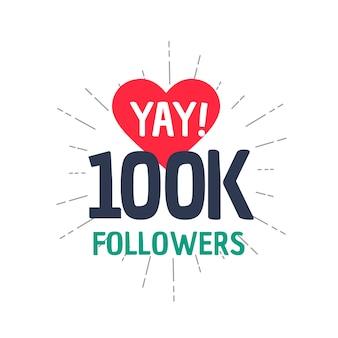 100k réalisateur suiveur dans les médias sociaux