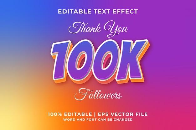 100k style de modèle d'effet de texte modifiable vecteur premium