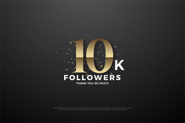 10k abonnés ou abonnés avec le numéro d'or classique.