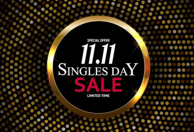 11 novembre, vente à la journée pour célibataires. illustration