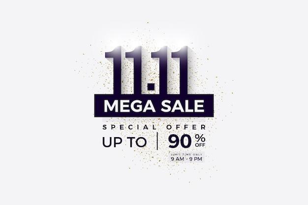 1111 fond de vente avec des chiffres noirs sur blanc