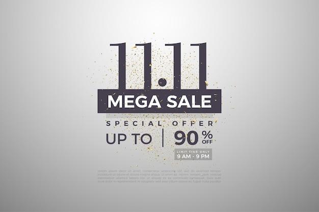 1111 vente avec fond argenté