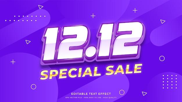 12.12 effet de texte modifiable de typographie de vente spéciale