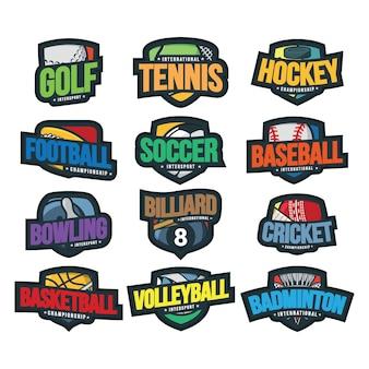 12 illustration vectorielle de sport logo