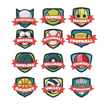 12 illustration vectorielle de sport logo