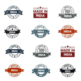 12 made in india rubber stamp