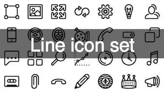 122 icônes de ligne de conduite