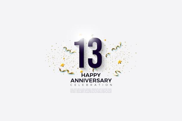 13ème anniversaire avec et fête festive.