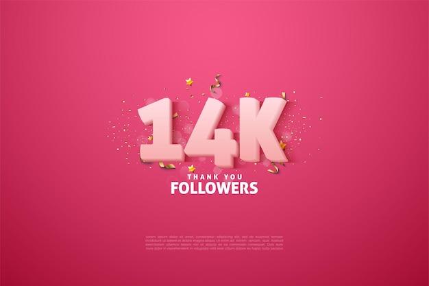 14 000 abonnés avec des chiffres blancs doux
