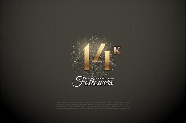 14k followers avec nombres d'or et ruban