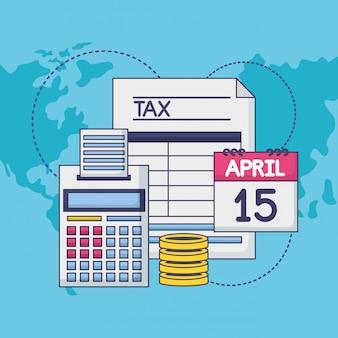 15 avril. concept de paiement des taxes