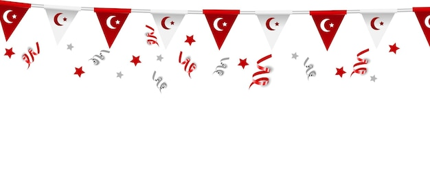15 juillet, jour de la démocratie et de l'unité nationale de la turquie, symboles de l'état de la turquie demokrasi ve milli birlik gunu illustration vectorielle.