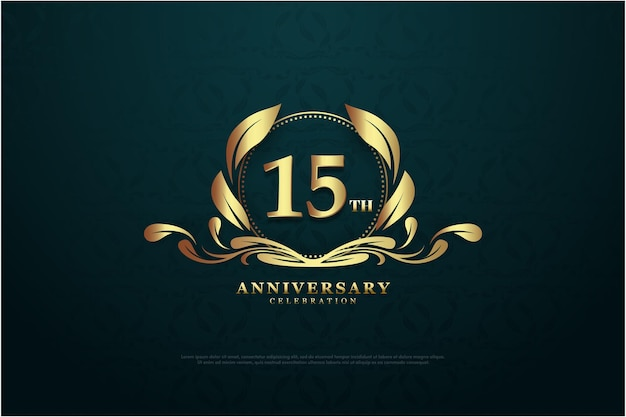 15e anniversaire avec numéros et logos uniques