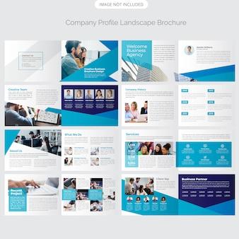 16 page conception de profil de paysage de l'entreprise
