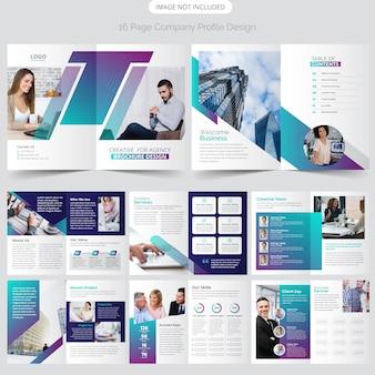 16 page profil de l'entreprise design